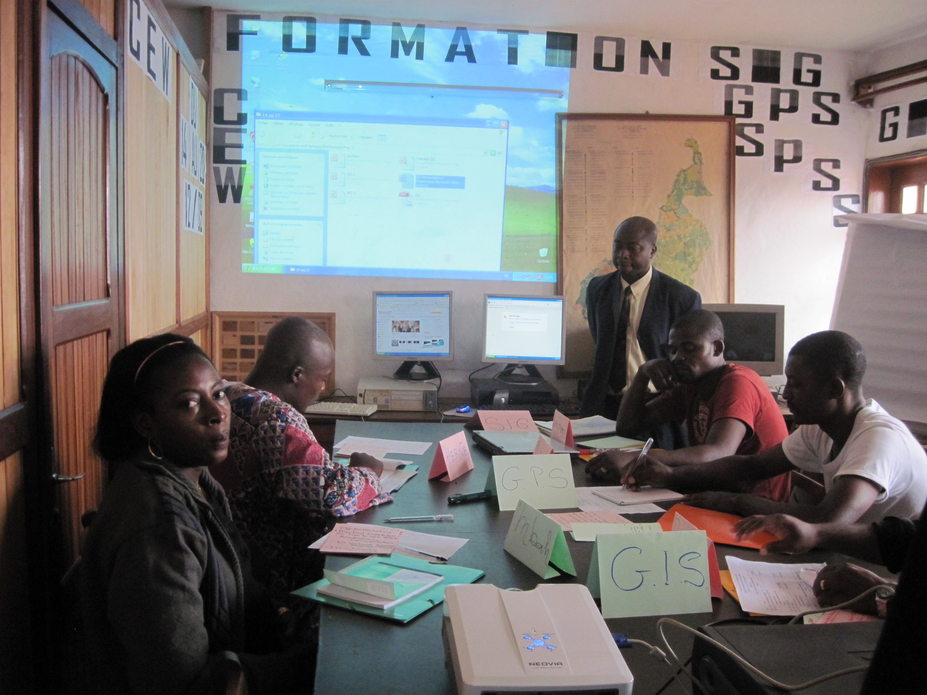 GIS training at CEW