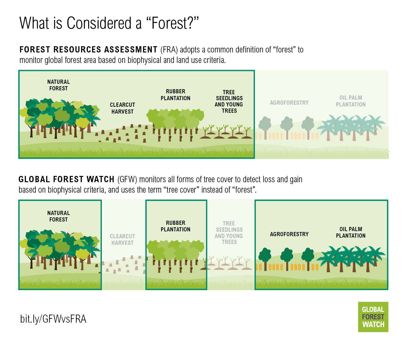 "What is considered a ""forest""?"